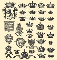 coats of arms and crowns vector image vector image