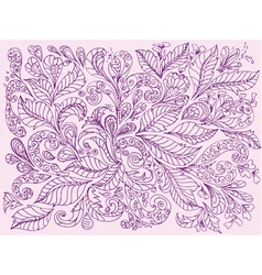 hand painted floral design vector image