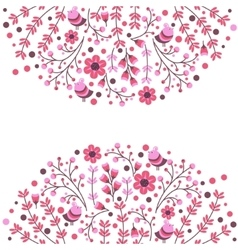 Set of floral frames Cute collection of vector image vector image