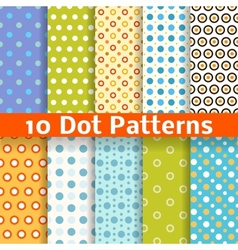 Different dot seamless patterns tiling vector image vector image