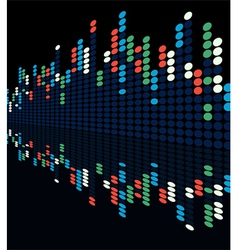 digital lights vector image vector image