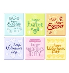Easter and Valentines Day Party Flyer Posters vector image