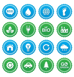 Eco green labels set - ecology recycling vector image vector image