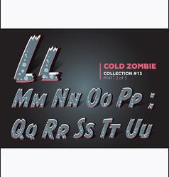 halloween zombie font raggy alphabet in horror vector image vector image