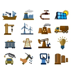 industry icons vector image