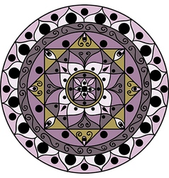 Lilac mandala vector image vector image