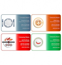 restaurant business cards vector image vector image