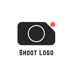 shoot logo with simple camera sign vector image vector image