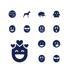 13 character icons vector