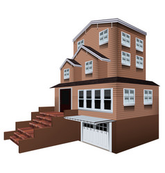 3d design for big house with garage vector