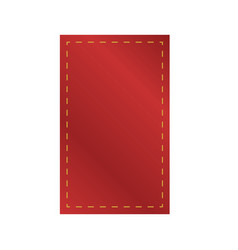 3d red empty rectangle fabric ribbon hang vector image