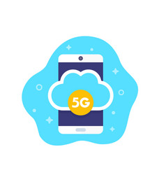 5g mobile network icon vector