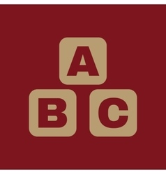 ABC building blocks icon ABC bricks design vector