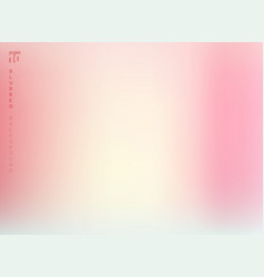 Abstract pastel pink color blurred gradient vector
