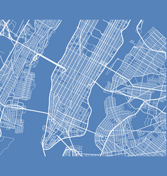 aerial view usa new york city street map vector image
