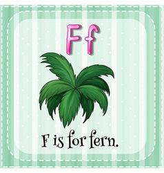 Alphabet F vector image