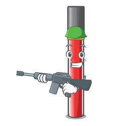 Army lip gloss in the cartoon shape vector