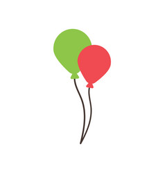 balloon party graphic design template isolated vector image