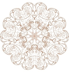 Beautiful Boho Mandala vector image