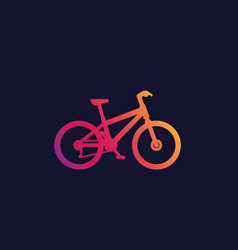 Bicycle mountain bike mtb icon vector
