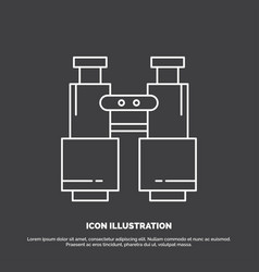 Binoculars find search explore camping icon line vector