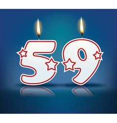 Birthday candle number 59 vector