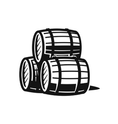 black barrels vector image