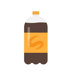 bottle of soda drink icon vector image