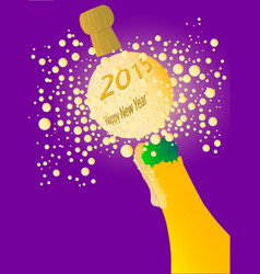 bubbly new year 2015 vector image