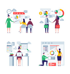 business oversize peoples male and female office vector image