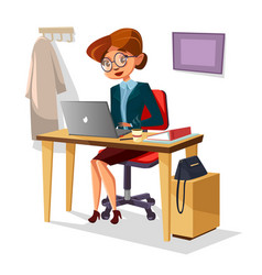 businesswoman in office of vector image