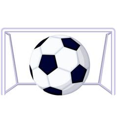 Cartoon soccer football game goal icon vector