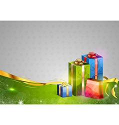 christmas background two color gifts vector image