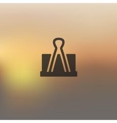 Clip icon on blurred background vector