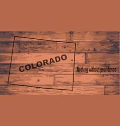 colorado map brand vector image