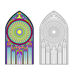Colorful and black and white image gothic vector