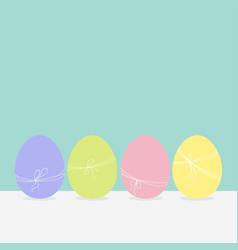 colorful painting easter egg set row painted vector image