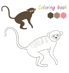 Coloring book vervet kids layout for game vector image