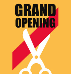 commercial grand opening vector image