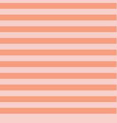 Coral orange and pink horizontal stripes seamless vector