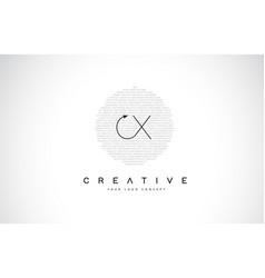 Cx c x logo design with black and white creative vector