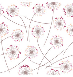 Dandelion blowing plant floral seamless vector