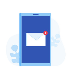 Email notification concept new email vector