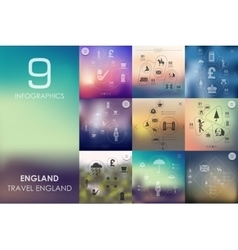 England infographic with unfocused background vector