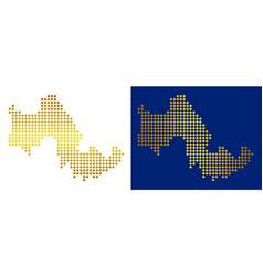 Golden abstract tilos greek island map vector