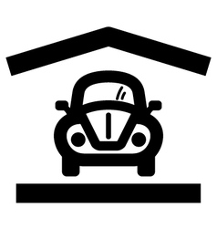 Home garage icon vector