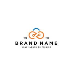 Infinity cloud logo design vector