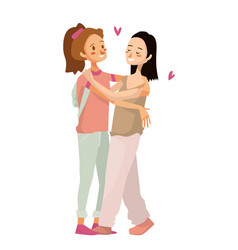 Isolated cute gay couple vector