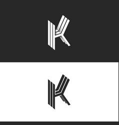 isometric letter k logo monogram initials kkk vector image