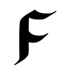 letter f painted brush vector image